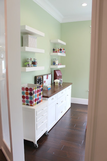 Home tour: Homework room + green paint color