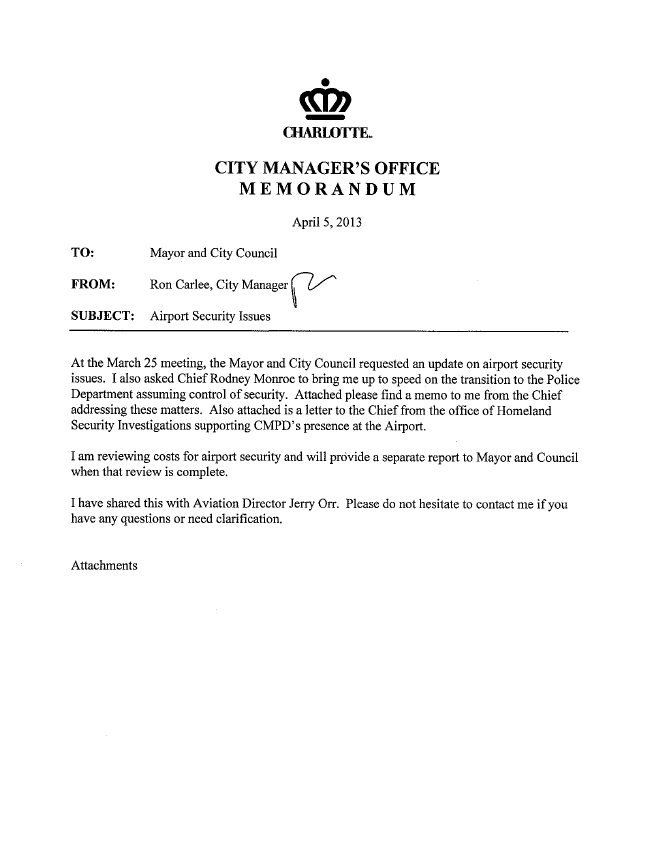 Cedar Posts and Barbed Wire Fences: CMPD Chief Monroe\'s Letter to ...