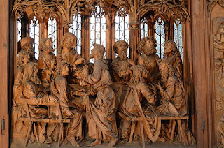 Wood Carving of Last Supper - Rothenburg ob der Tauber 2011 St Jakob 002.JPG Wikipedia