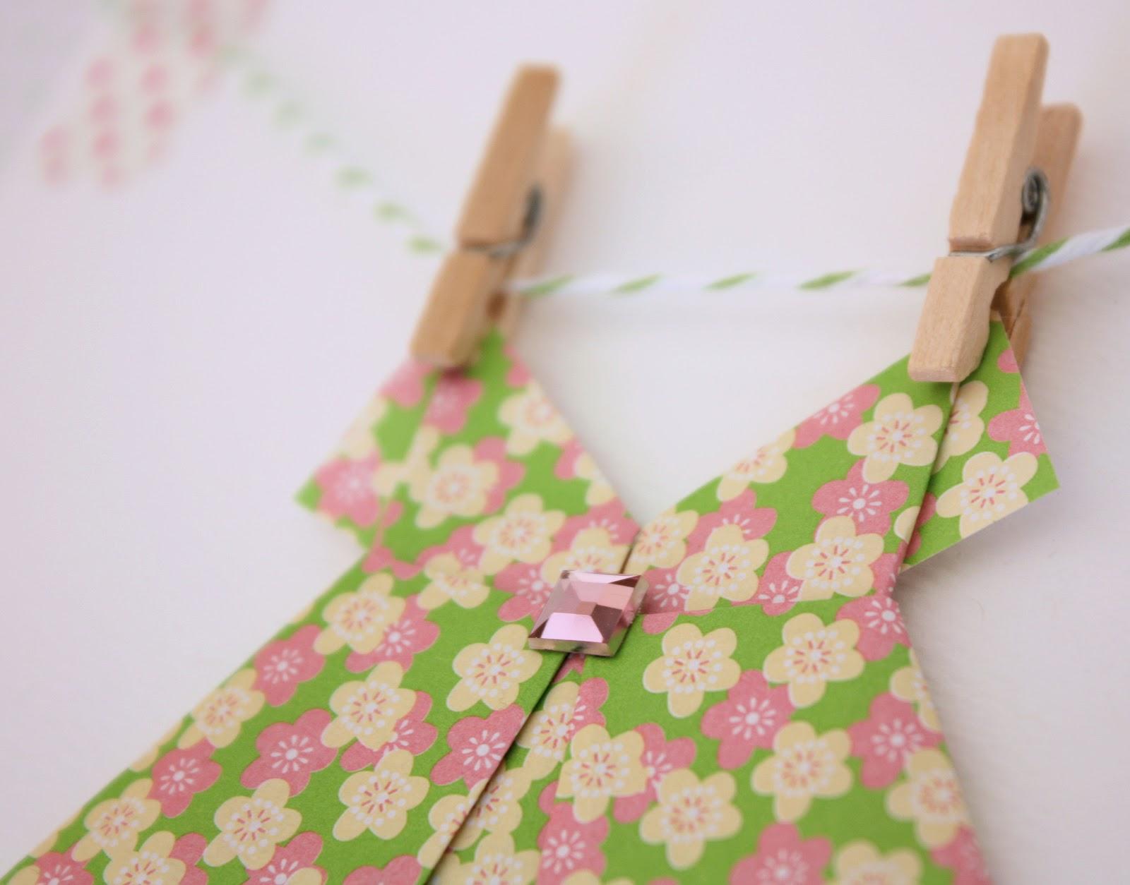 Origami dress card a spoonful of sugar origami dress card jeuxipadfo Choice Image
