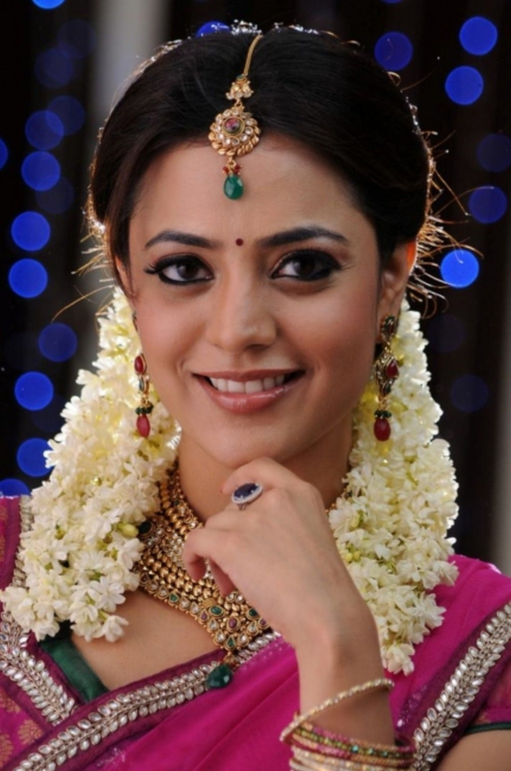 Nisha Agarwal smile, Nisha Agarwal as south indian girl