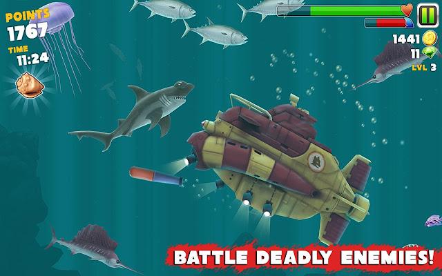 Hungry Shark Evolution v3.3.0 Apk + Datos SD Mod [Dinero ilimitado]