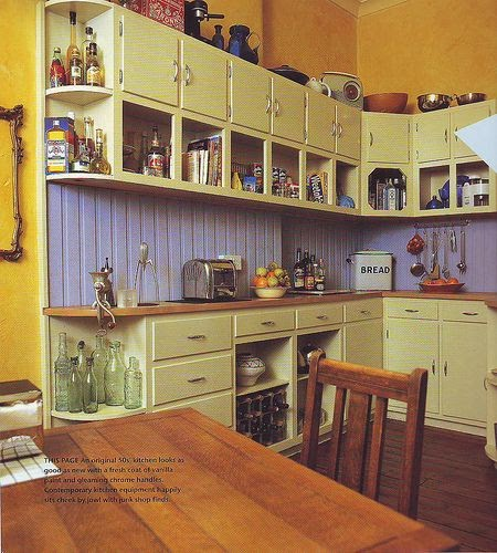 stuff decorating your vintage kitchen with colors of yellow and