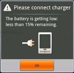 Imagen aviso batería baja
