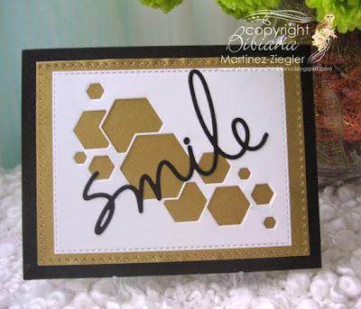 modern masculine card  front hexagon