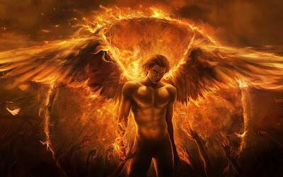 Papel de Parede Anjo e Demonios para pc 3d hd grátis Angel in hell desktop hd wallpaper 1080p