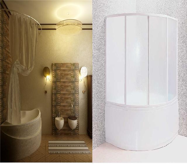 пластиковая шторка в ванную комнату фото