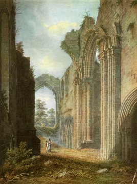 Furness Abbey, Lancashire - Water Color Painting