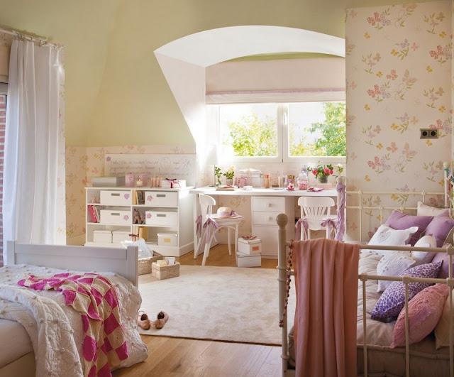 Decore criativo quartos rom nticos - Habitaciones para dos ninas ...