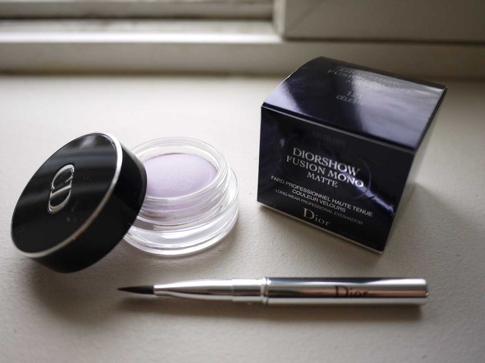 dior fusion mono matte eyeshadow celeste swatch review