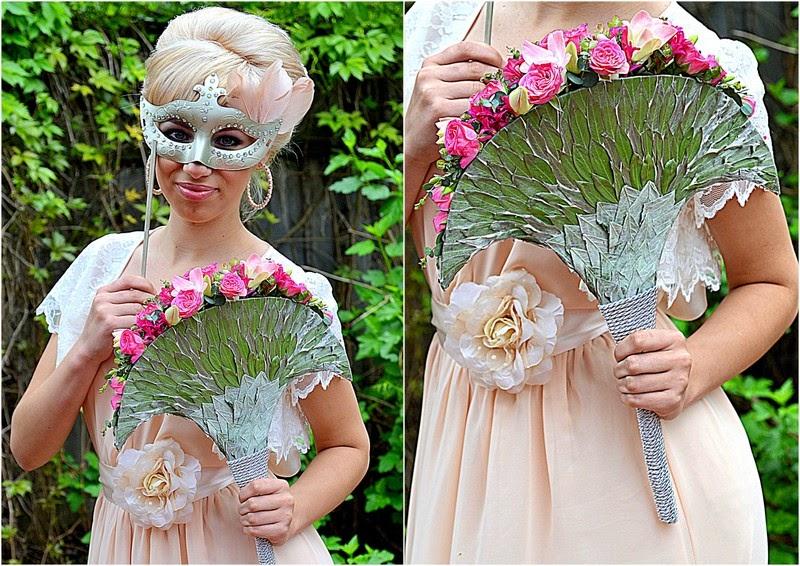 свадебный букет веер