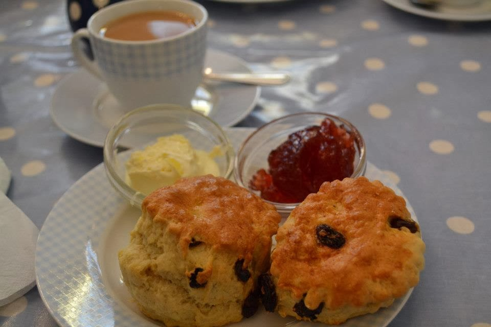 cream tea seaside
