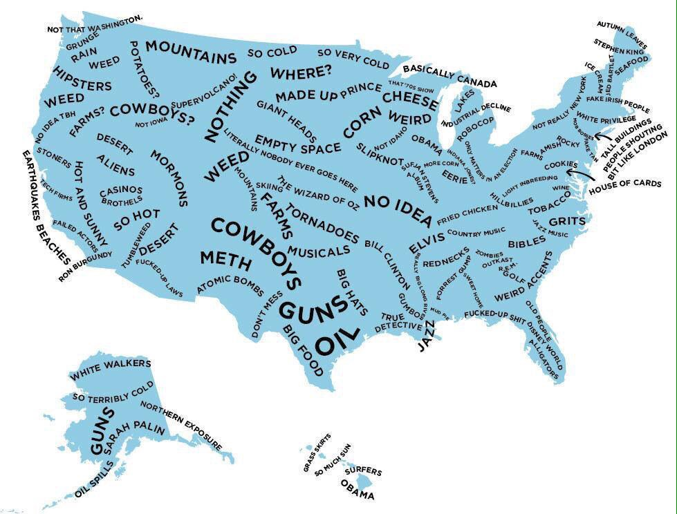 The US according to British people