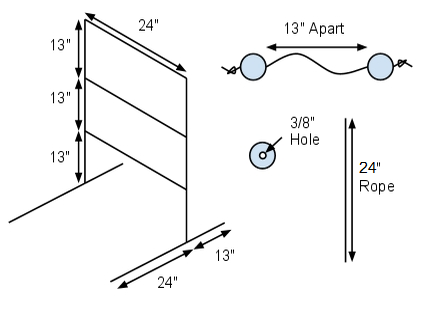 Ladder Golf DIY Dimensions