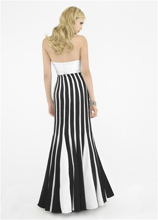 Zebra Striped Prom Dresses 27