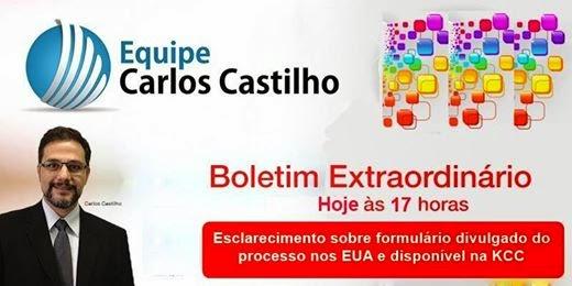 Em face das recentes notícias que circulam pela internet a respeito de um formulário disponibilizado pela KCC e que tem causado enormes dúvidas, o que é natural, farei um Boletim Extraordinário sobre o tema às 17h no horário de Brasília.