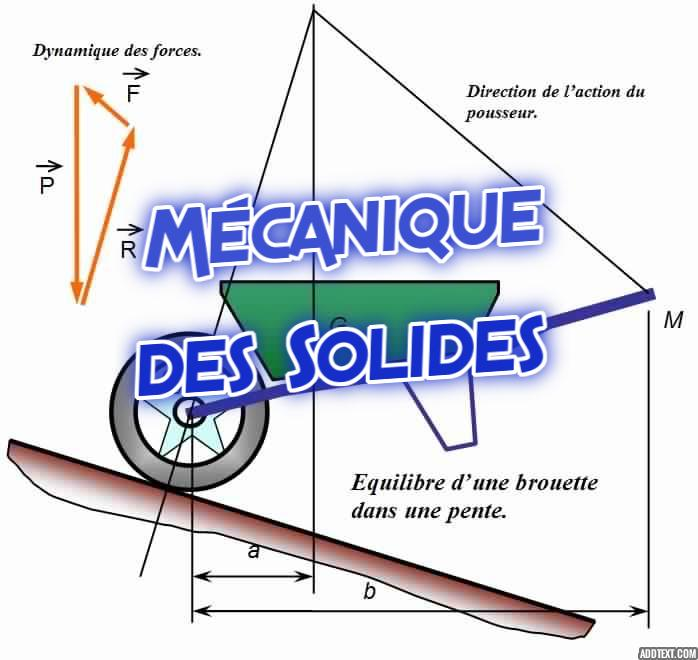 cours  u0026 r u00e9sum u00e9 de la m u00e9canique des solides