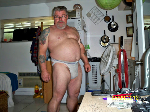 BearJock_1 Big Hairy Daddy Bear in Dirty Jockstrap