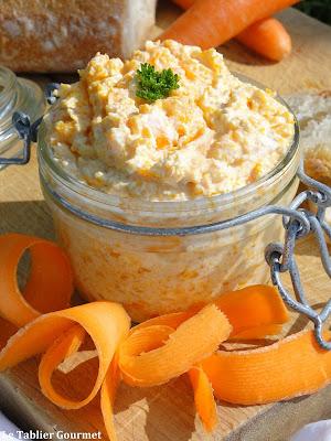 Rillettes de carottes au fromage frais
