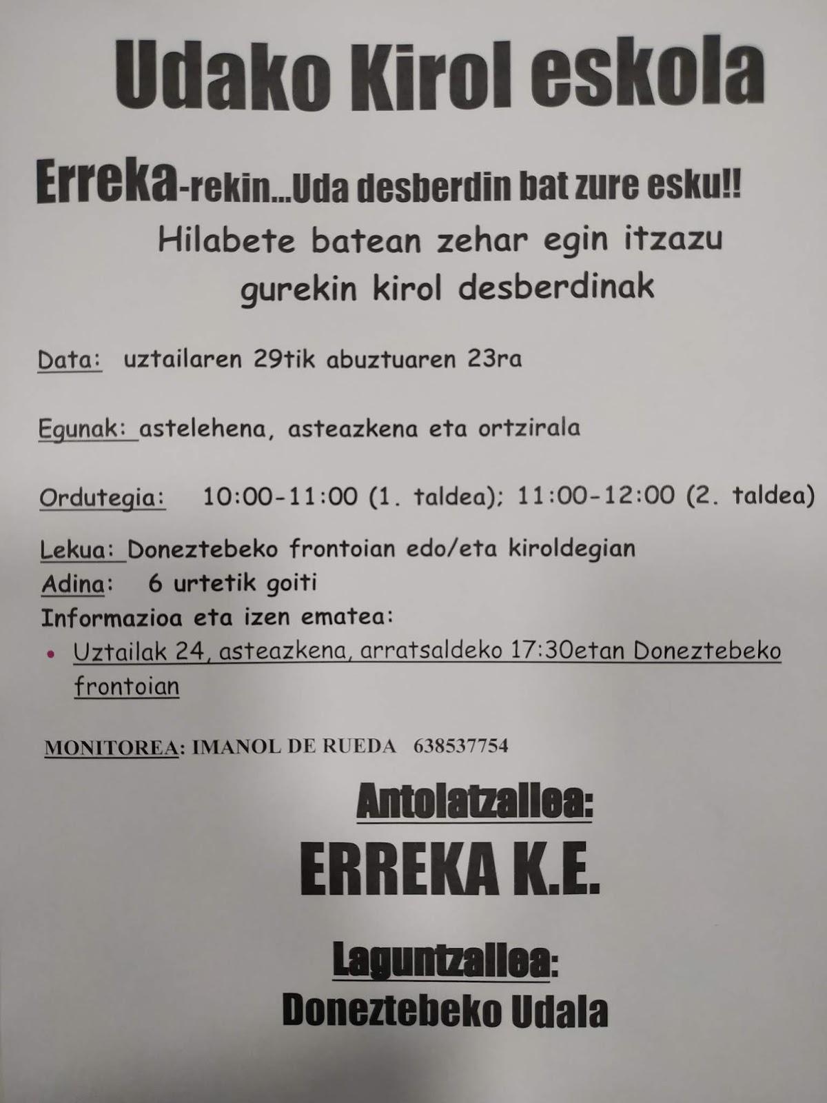 UDAKO KIROL ESKOLA