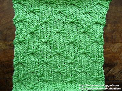 Cách đan khăn len hình cánh bướm