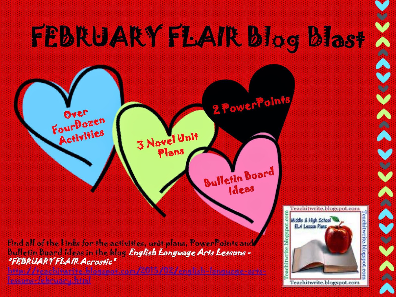 FEBRUARY FLAIR Blog Blast poster