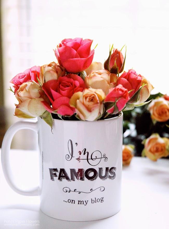 Pen paper flowers found cute blogger coffee mug monday july 7 mightylinksfo