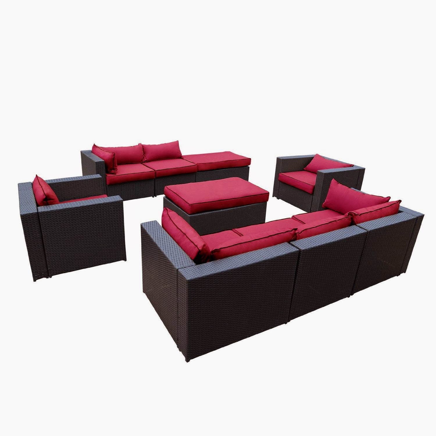 outdoor patio rattan wicker furniture sectional sofa. Black Bedroom Furniture Sets. Home Design Ideas