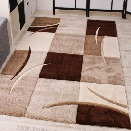 Tapis de salon pas cher contemporain et design bonnes for Salon moderne beige marron