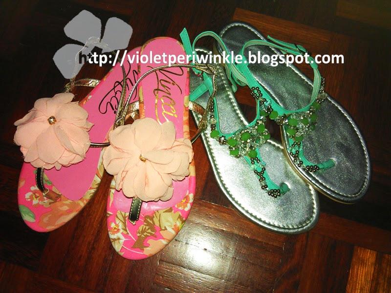 flat sandals diamante