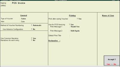 POS Invoice Class