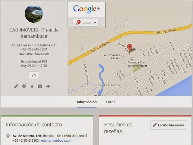 Inmobiliaria en Google Plus