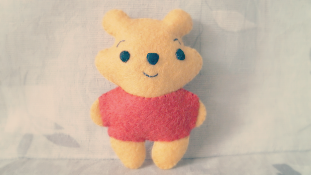 plush, plushy, plushie tutorial, tut, sewing, sew, cute, winnie the pooh