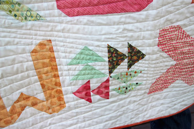 Girls in the Garden - Spell it with Fabric quilt close up W