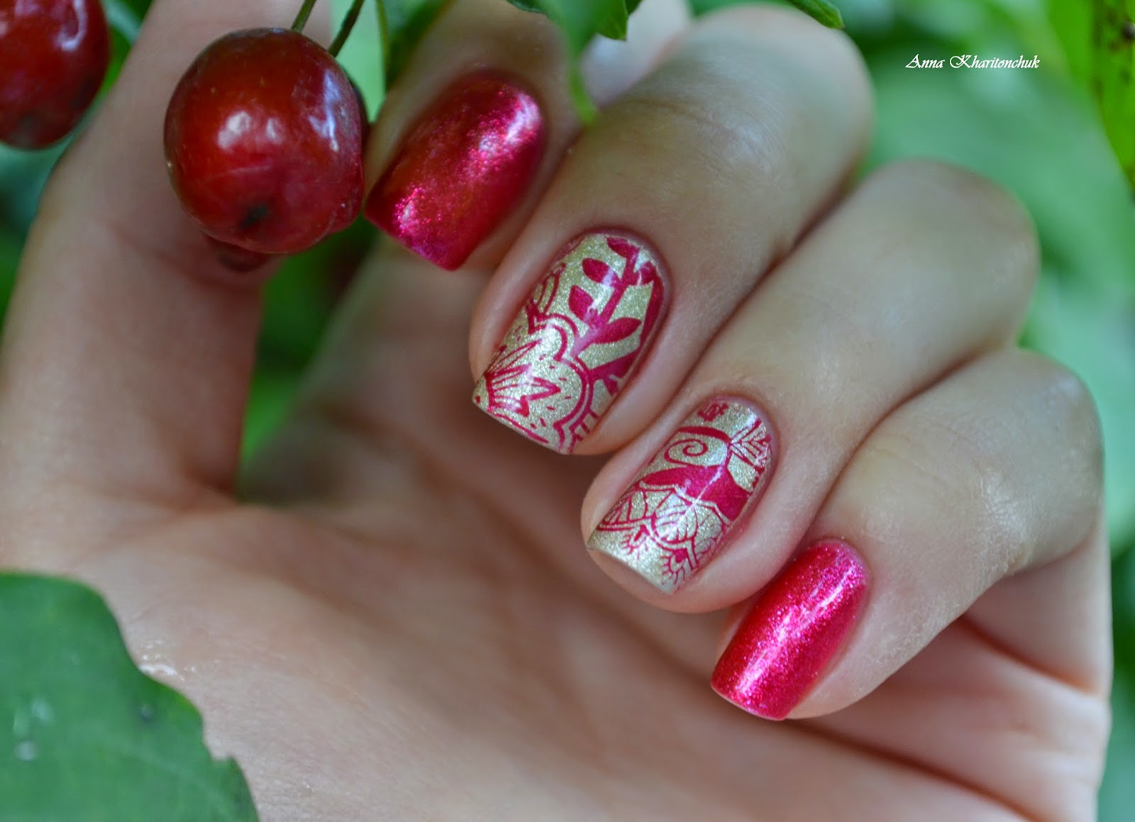 Дуэт Sophin # 175 и Opi Love.Angel.Music.Baby + стемпинг от Born Pretty Store