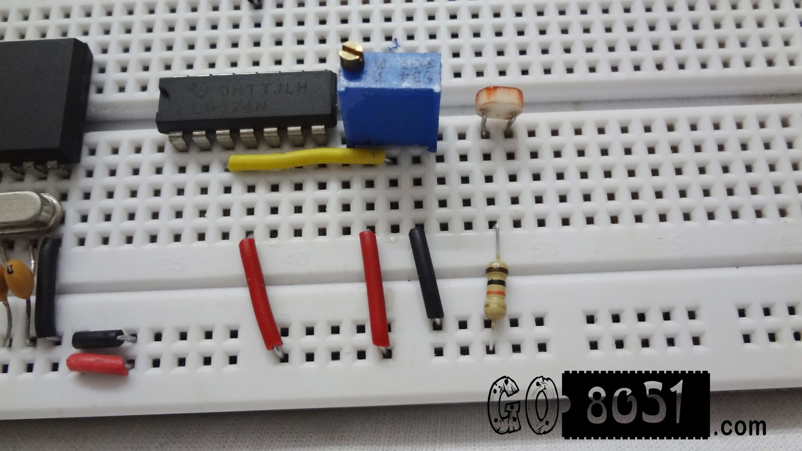 Chapter 54 Interfacing Lm324 Comparator Ic With Ldrlight Dependent Resistor Sensor On Bread Board