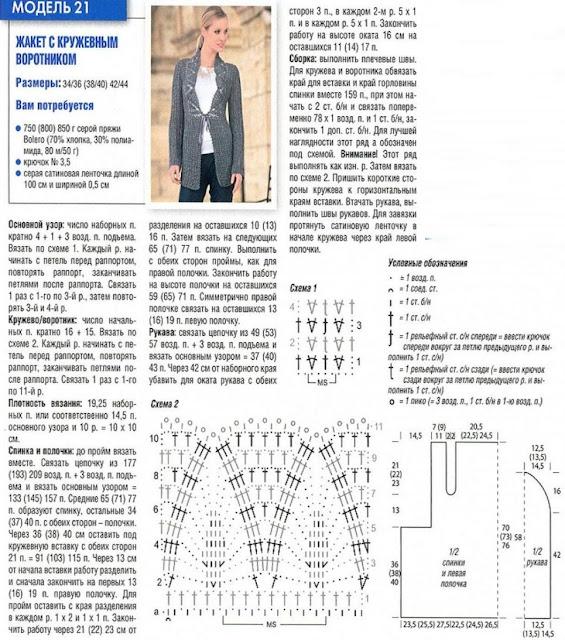 Вязание спицами жакеты и кофты схемы 55