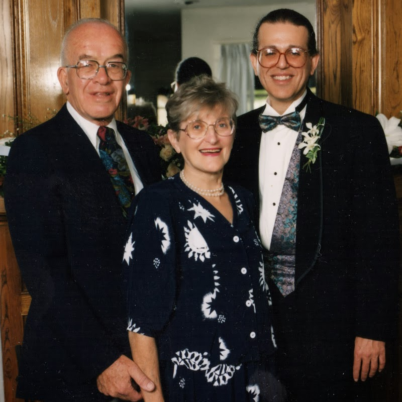 Ben and Marion Shuman with David Ocker age 41 - November 1 1992 Santa Monica California