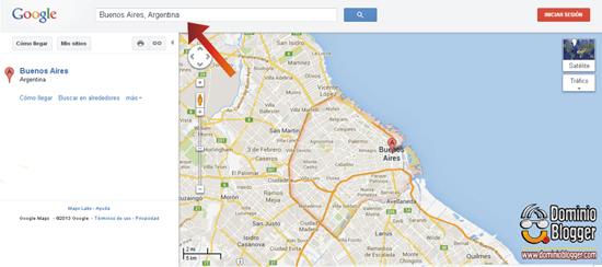 Como colocar Google Maps en Blogger - Paso 1