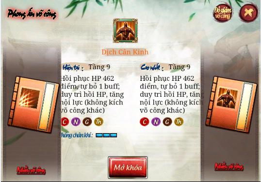 game kiếm hiệp 2.6 - phong ấn võ công