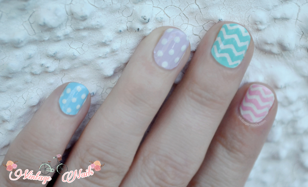 nail art, manicura, manicure, spring, vintage nails, easter nail art