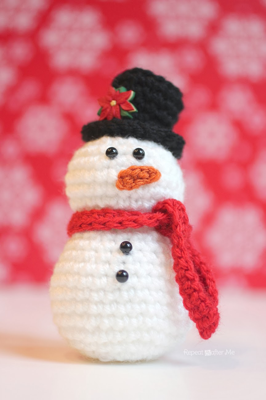 Crochet Snowman Pattern Repeat Crafter Me Bloglovin