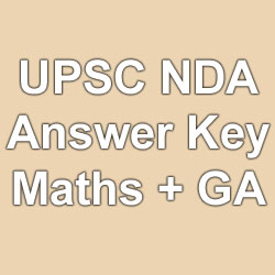 UPSC NDA NA 2 Official Answer Key 2015