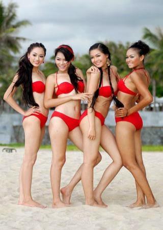 Hoa hau viet nam mac bikini toa sac o bai bien 14