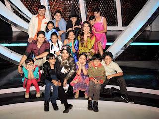 Mahima on the sets of Chote Miyan