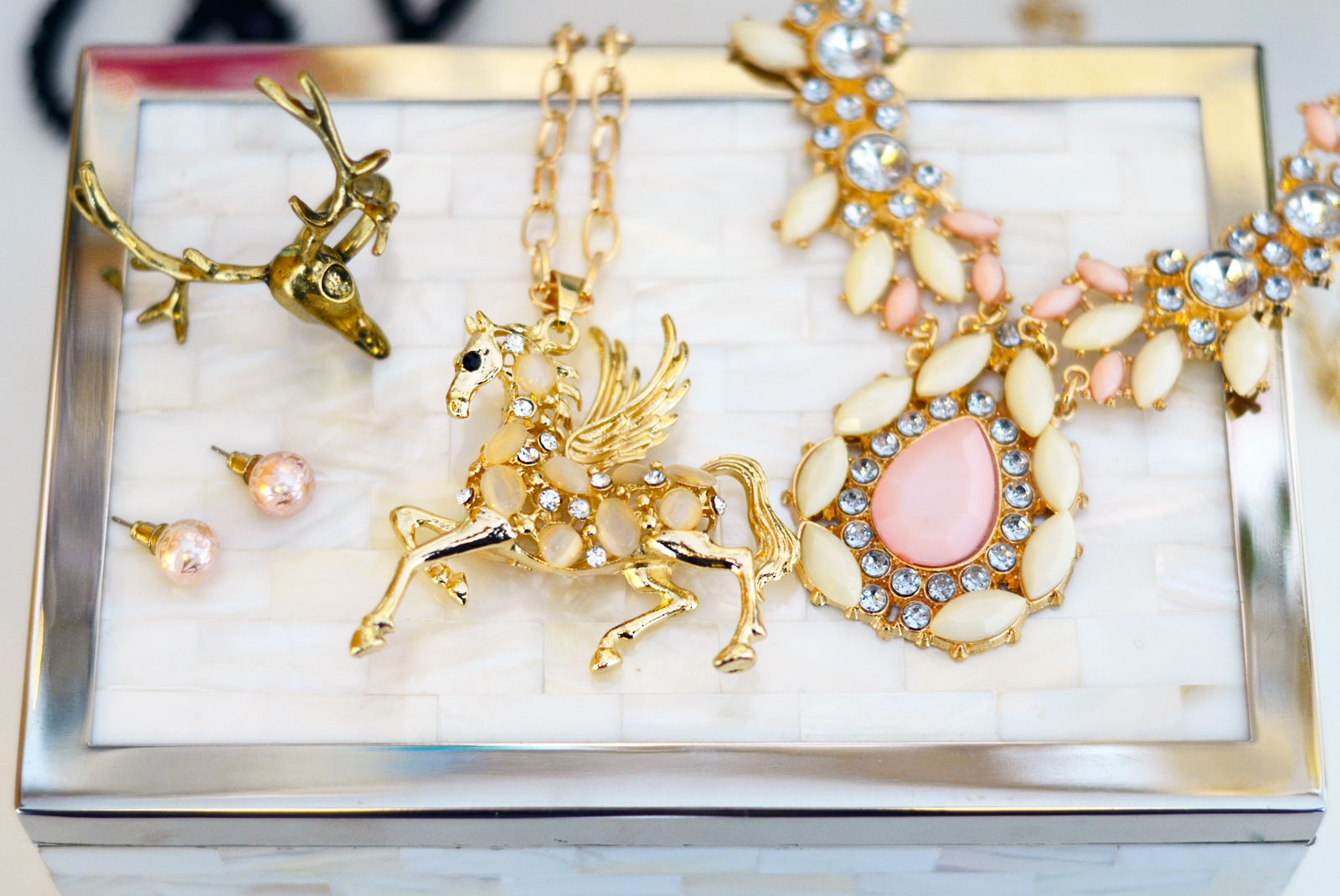 Gold fashion skull, unicorn jewellery. How to clean and care for your jewellery