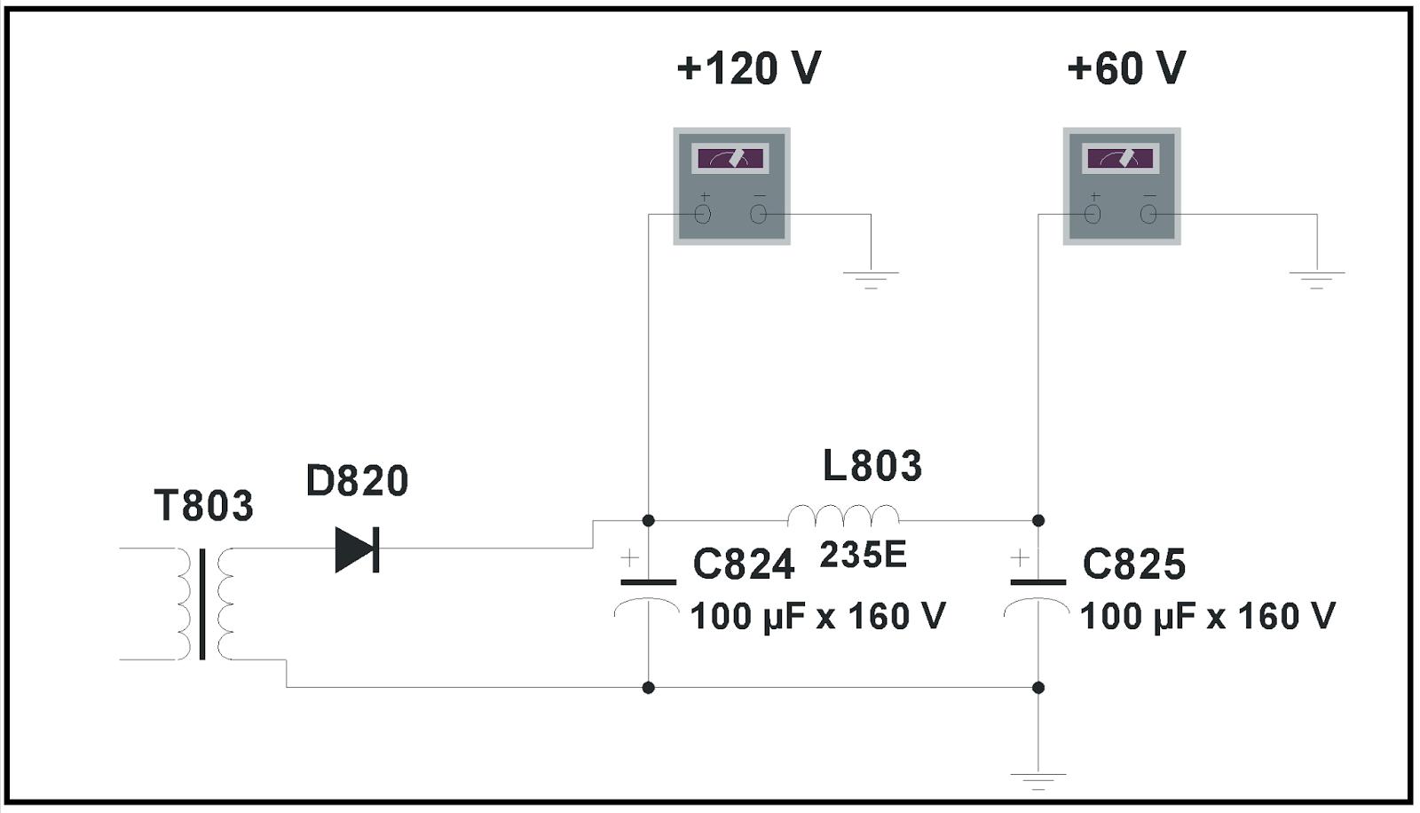 Circuito de filtrado tipo Pi