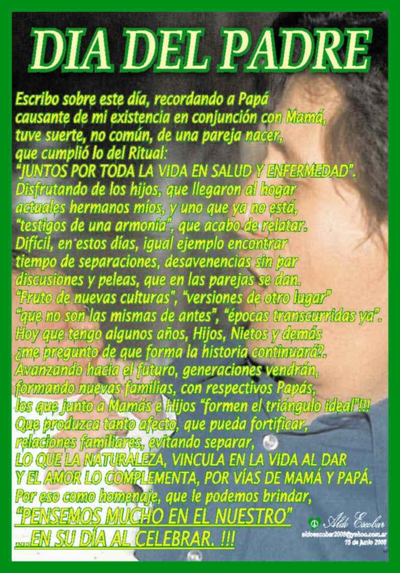 Poemas Dia Del Padre Poema Papito | apexwallpapers.com