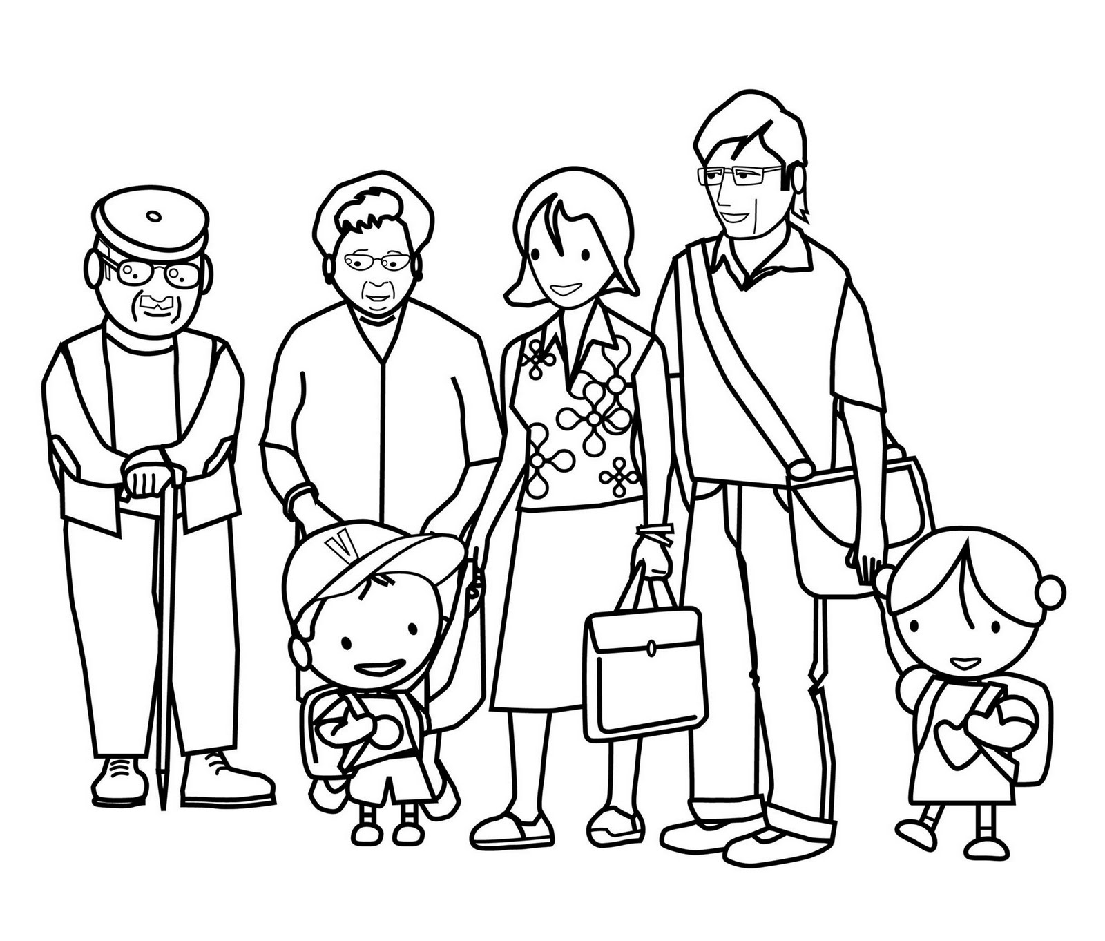Familia Extensa Dibujo Para Colorear - Get Yasabe