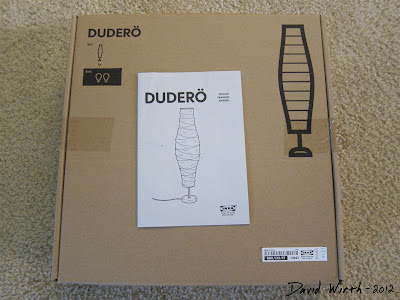 ikea dudero light, white paper light, floor, dudero, box, instructions